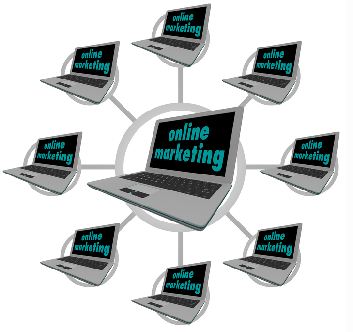 Online Marketing - Connected Computers