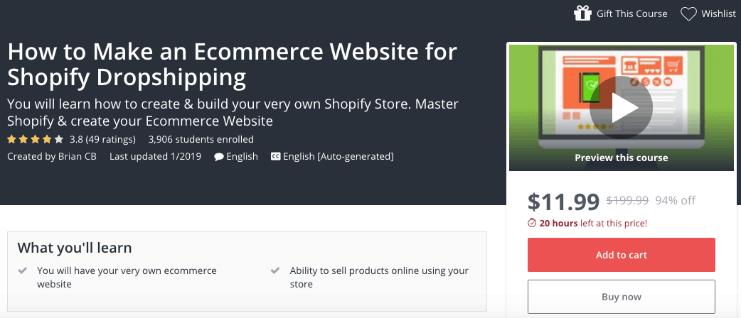 47 Best Shopify Courses To Get More Sales – Updated 2019